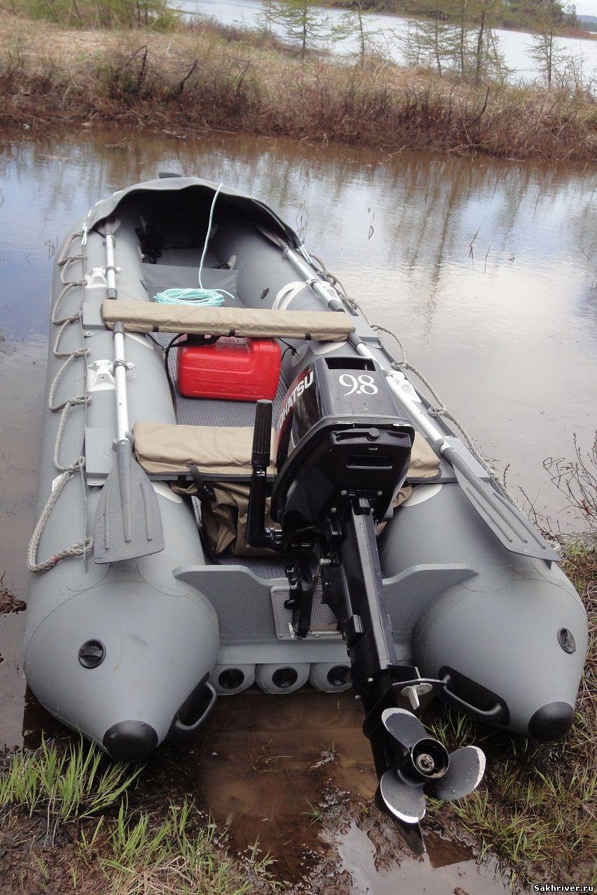 накачивание лодки солар