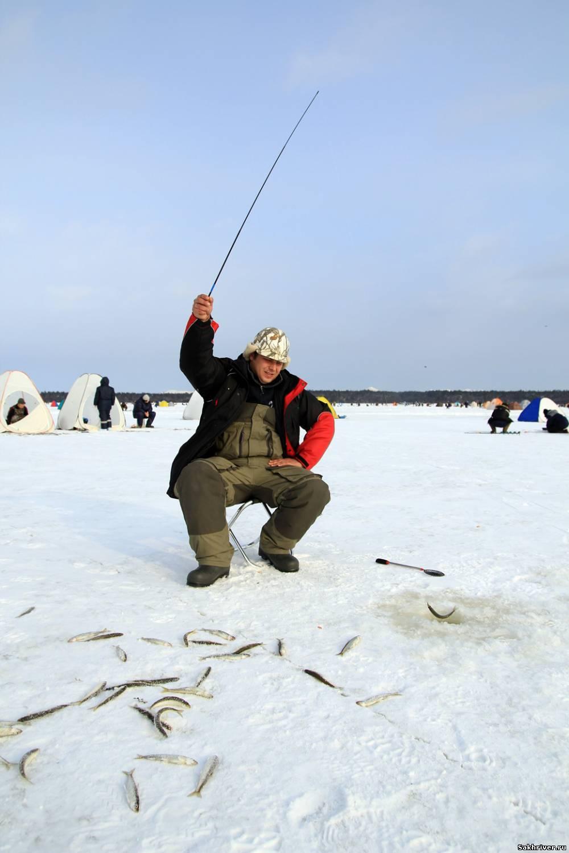 зимния рыбалка на курилах